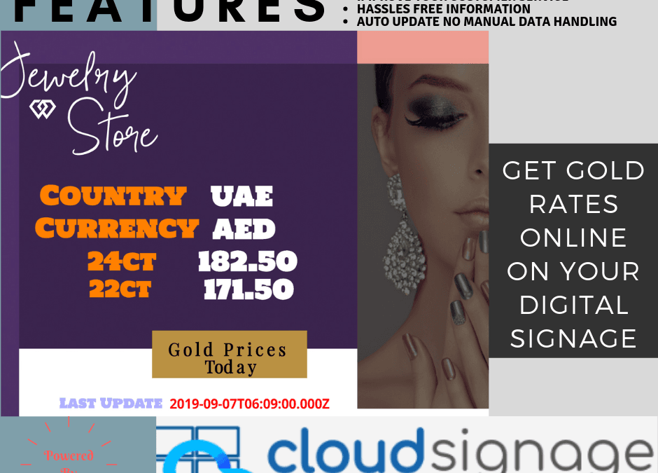 How Cloud Signage Helping Gold Marchants to get the Gold Price live?