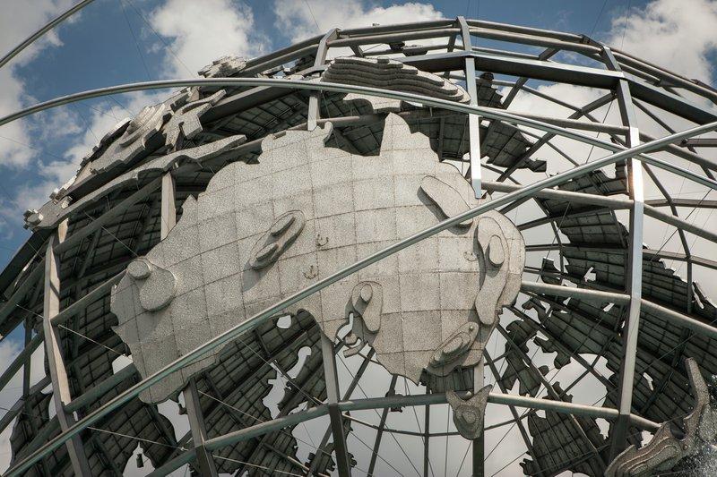 Unisphere sculpture close-up in New York