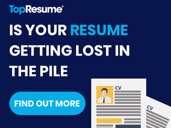 FREE: 1 Resumé Review from TopResume